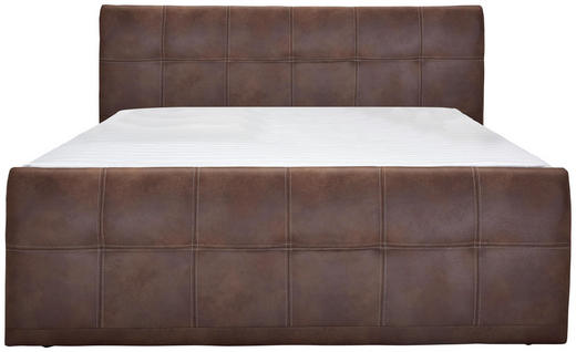 BOXSPRINGBETT 180/200 cm  in Braun - Braun, Design, Textil (180/200cm) - Carryhome
