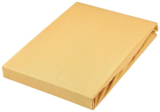SPANNBETTTUCH Jersey Currygelb bügelfrei - Currygelb, Basics, Textil (180/200cm) - Novel
