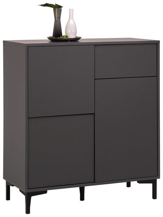 KOMMODE 84/92/38 cm - Graphitfarben, Trend, Holzwerkstoff/Kunststoff (84/92/38cm) - Carryhome