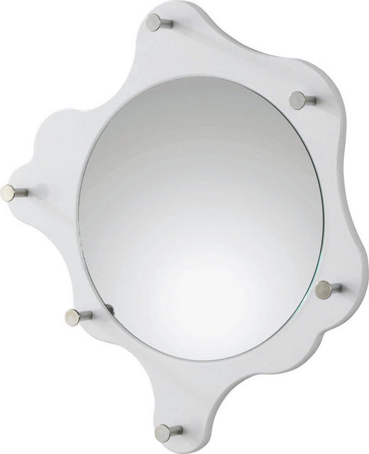 VJEŠALICA ZIDNA - bijela, Design, drvo/metal (56cm) - BOXXX
