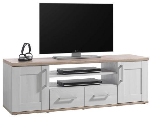 LOWBOARD 152/50/44 cm - Silberfarben/Lärchefarben, KONVENTIONELL, Holzwerkstoff/Kunststoff (152/50/44cm) - Xora