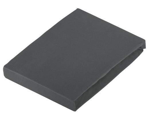 BOXSPRING-SPANNBETTTUCH Jersey Titanfarben bügelfrei - Titanfarben, KONVENTIONELL, Textil (200/220cm) - Novel