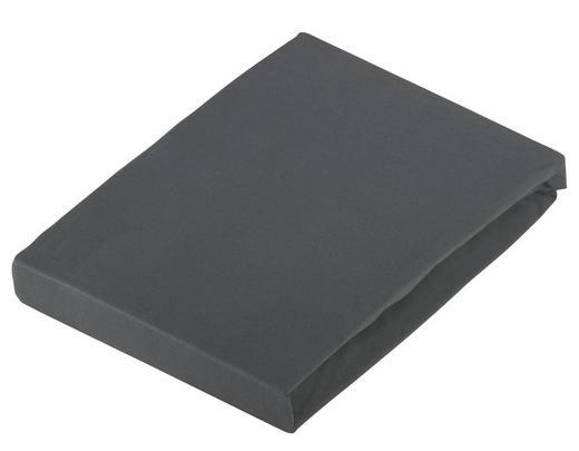 SPANNBETTTUCH Jersey Grau bügelfrei, für Wasserbetten geeignet - Grau, Basics, Textil (100/220cm) - Novel
