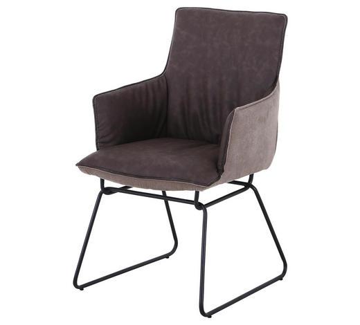 STOLICA - boje kroma/smeđa, Design, metal/tekstil (57/89/65cm) - Carryhome