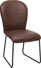 STUHL in Metall, Textil Braun, Schwarz - Schwarz/Braun, Trend, Textil/Metall (49/92/66,5cm) - Ambia Home