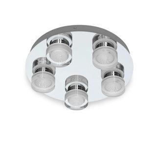 PLAFONJERA ZA KUPATILA - Boje hroma, Dizajnerski, Plastika/Metal (35/35/8,5cm) - Celina