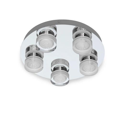 BADEZIMMER-DECKENLEUCHTE - Chromfarben, Design, Kunststoff/Metall (35/35/8,5cm) - Celina