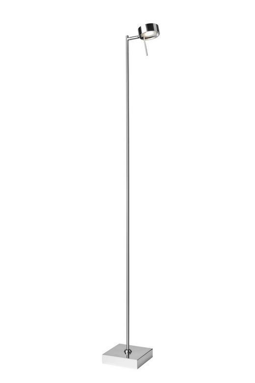 LED-STEHLEUCHTE - Chromfarben, MODERN, Metall (15/128cm)
