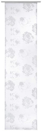 FLÄCHENVORHANG   transparent   60/245 cm - Weiß, MODERN, Textil (60/245cm) - NOVEL