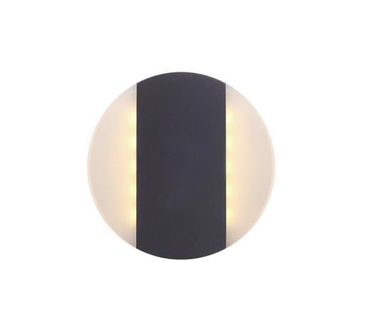 LED-AUßENLEUCHTE - Dunkelgrau/Transparent, Design, Kunststoff/Metall (17cm)