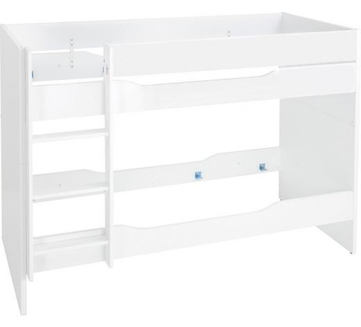 ETAGENBETT - Weiß, KONVENTIONELL, Holzwerkstoff (90/200cm) - Paidi
