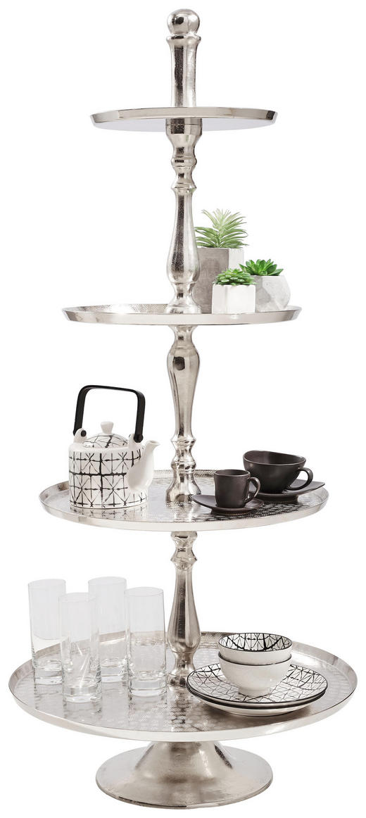 ETAGERE - Nickelfarben, Basics, Metall (55/120cm) - AMBIA HOME