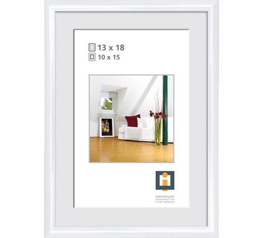 BILDERRAHMEN in Weiß - Weiß, Basics, Glas/Kunststoff (16/21cm)