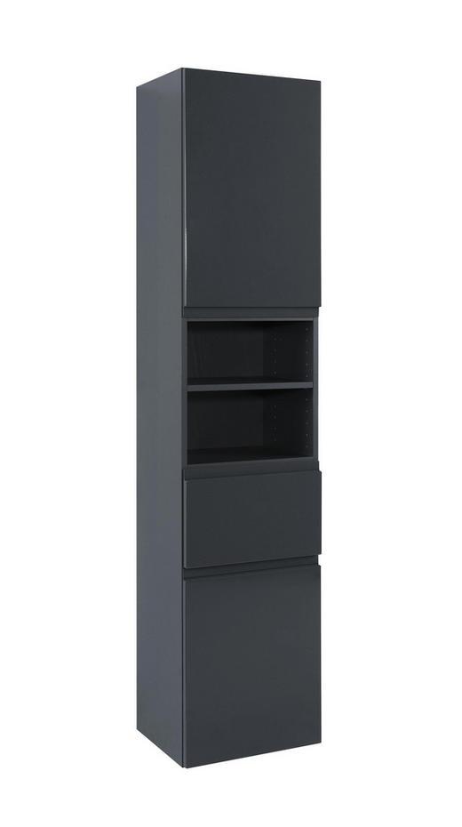 HOCHSCHRANK Grau - Graphitfarben/Grau, Design, Holzwerkstoff (40/180/35cm) - Xora