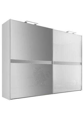 SKŘÍŇ S POSUVNÝMI DVEŘMI, bílá, světle šedá - bílá/světle šedá, Design, kov/kompozitní dřevo (306/222/68cm) - Moderano