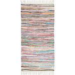Fleckerlteppich 2er Set  60/120 cm  Multicolor, Weiß   - Multicolor/Weiß, Basics, Textil (60/120cm) - Boxxx