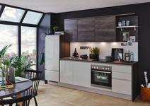 Einbauküche Florenz/riga - Eichefarben/Grau, MODERN, Holzwerkstoff (288cm) - Vertico