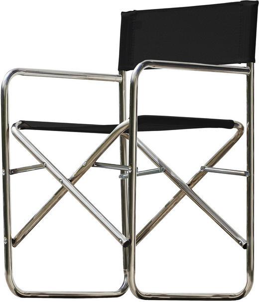 REGIESTUHL Aluminium Alufarben, Schwarz - Alufarben/Schwarz, Design, Textil/Metall (51/83/44cm) - Jan Kurtz