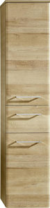 SREDNJI ORMAR - Boje hroma/Boja hrasta, Konvencionalno, Staklo/Pločasti materijal (30/142/33cm) - Xora