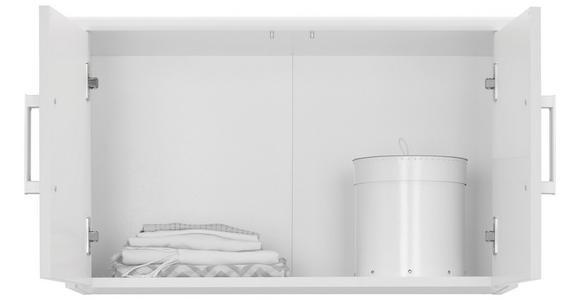 AUFSATZSCHRANK - Silberfarben/Weiß, KONVENTIONELL, Holzwerkstoff/Metall (72/43/36cm) - Xora