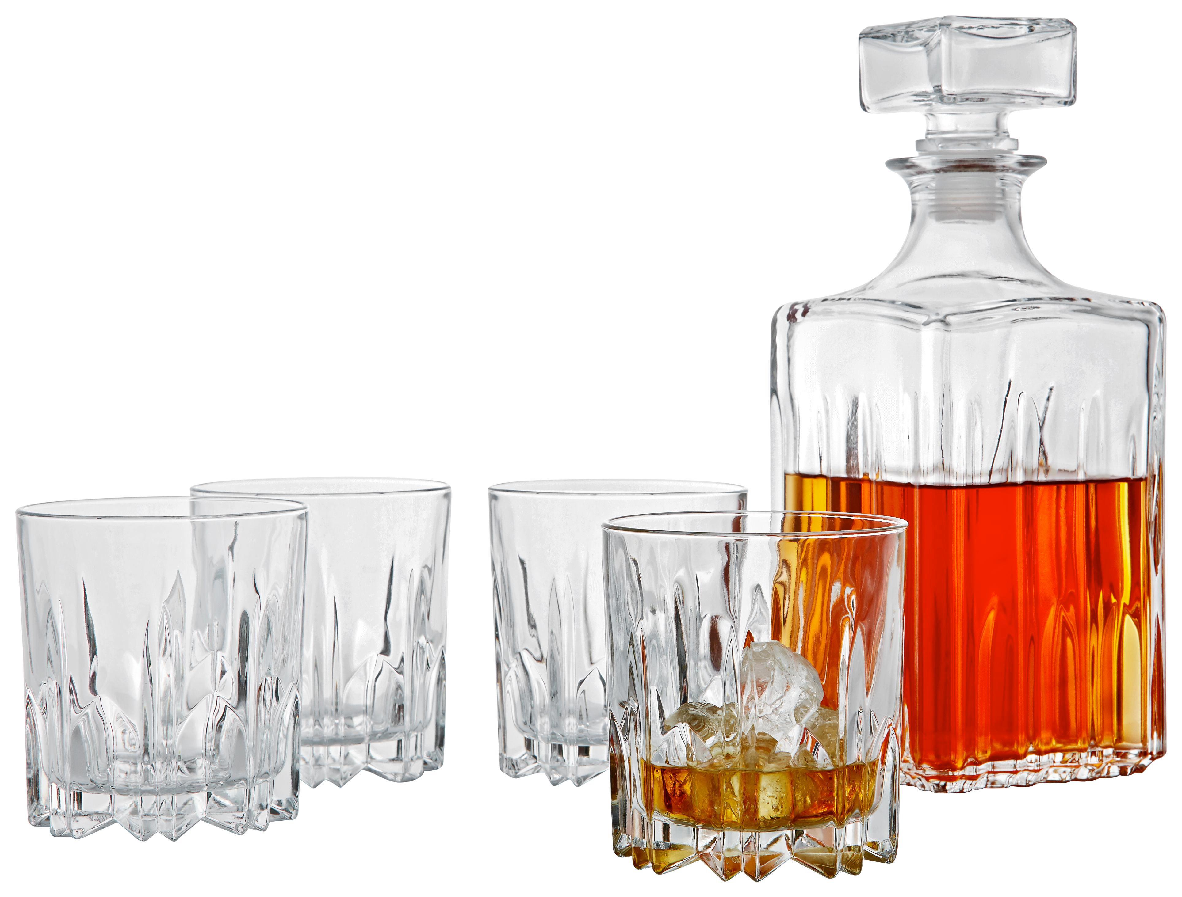 WHISKY-GLÄSERSET 5-teilig - Transparent, Basics, Glas - NOVEL