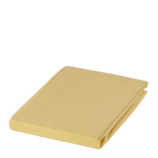 SPANNBETTTUCH Zwirn-Jersey Gelb bügelfrei, für Wasserbetten geeignet - Gelb, Basics, Textil (150/200cm) - ESTELLA