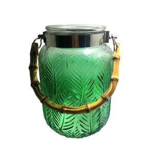 LYKTA - grön/naturfärgad, Lifestyle, metall/glas (12/21cm) - Ambia Home