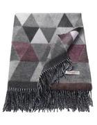 PLAID 150/180 cm Anthrazit, Creme, Grau, Beere, Hellgrau, Dunkelgrau  - Beere/Dunkelgrau, Textil (150/180cm) - Esprit