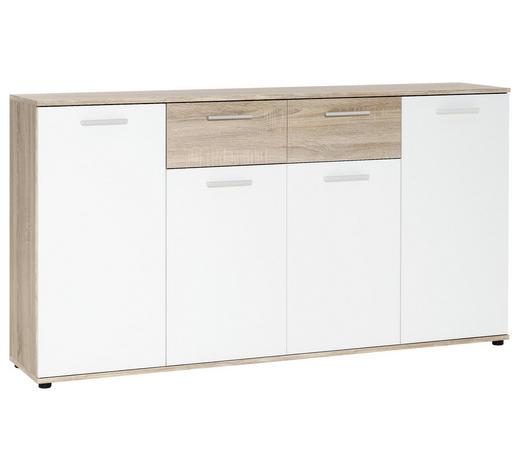 KOMMODE 160/85/35 cm  - Eichefarben/Silberfarben, Basics, Holzwerkstoff/Kunststoff (160/85/35cm) - Carryhome
