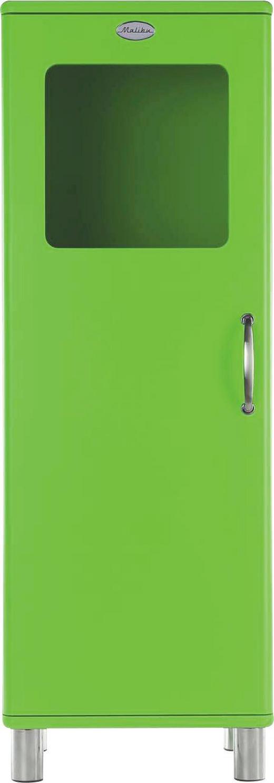 HIGHBOARD lackiert, Melamin Grün - Grün/Nickelfarben, Design, Glas/Holzwerkstoff (50/143/41cm) - CARRYHOME