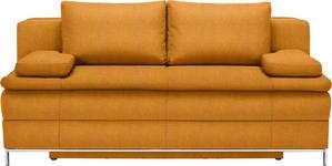 BOXSPRINGSOFA Orange  - Chromfarben/Orange, Design, Textil/Metall (200/93/107cm) - Novel