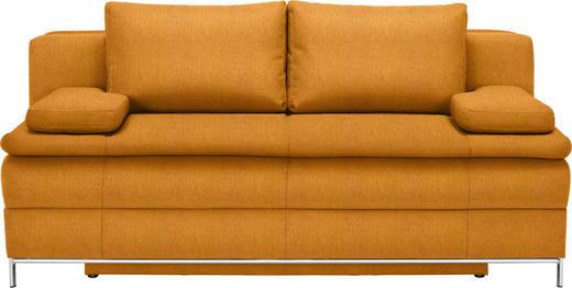 BOXSPRINGSOFA in Textil Orange - Chromfarben/Orange, Design, Textil/Metall (200/93/107cm) - Novel