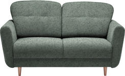 ZWEISITZER-SOFA in Textil Dunkelgrau - Dunkelgrau, Design, Holz/Textil (154/90/93cm) - Hom`in