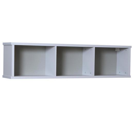 POLICE NÁSTĚNNÁ - šedá, Konvenční, kompozitní dřevo (158/40/28cm) - Cantus
