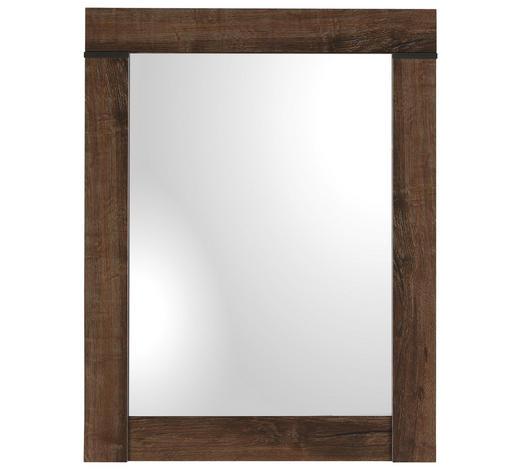 ZRCADLO, 64/82/2,5 cm,  - barvy dubu, Romantický / Rustikální, kompozitní dřevo/sklo (64/82/2,5cm) - Carryhome