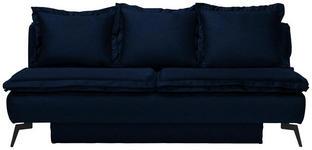 SCHLAFSOFA in Textil Blau  - Blau/Schwarz, MODERN, Textil/Metall (208/100/112cm) - Novel