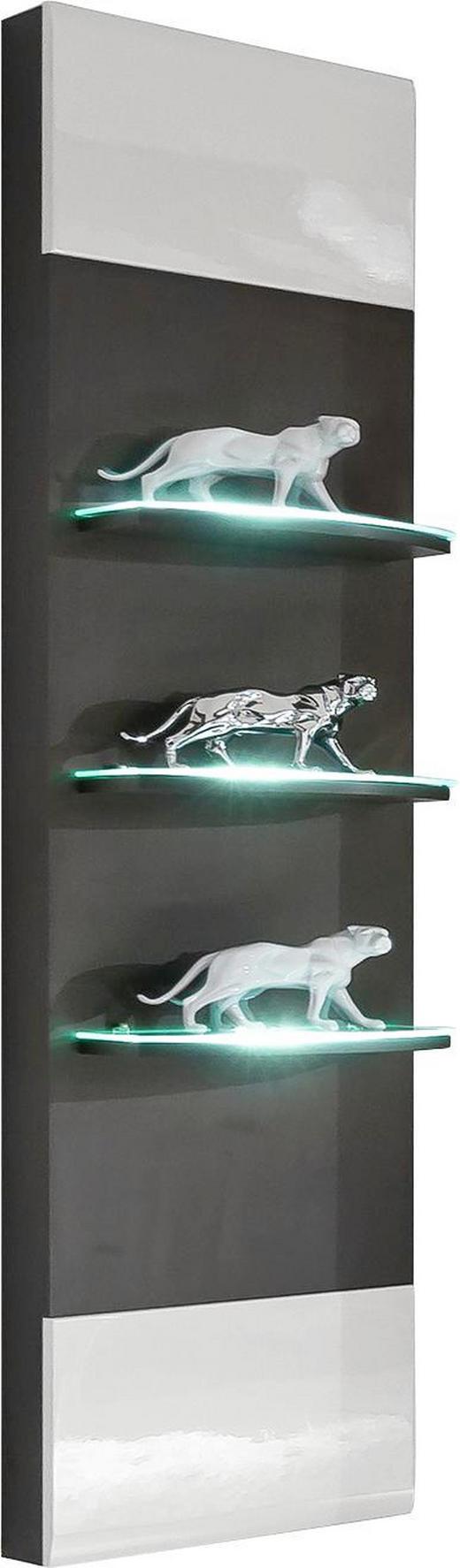 WANDPANEEL - Graphitfarben/Weiß, Design, Holzwerkstoff (40/165/30cm) - Xora