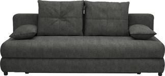 SCHLAFSOFA in Textil Dunkelbraun  - Dunkelbraun/Schwarz, Design, Kunststoff/Textil (208/73-90/102cm) - Hom`in