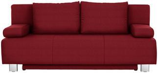 SCHLAFSOFA in Textil Rot  - Chromfarben/Rot, Design, Textil/Metall (197/88/89cm) - Xora
