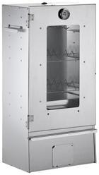 RÄUCHEROFEN  Alufarben - Alufarben, KONVENTIONELL, Glas/Metall (39/80/27,5cm)