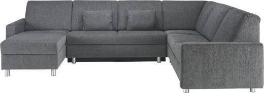 WOHNLANDSCHAFT in Textil Grau - Alufarben/Grau, KONVENTIONELL, Kunststoff/Textil (158/323/252cm) - Sedda