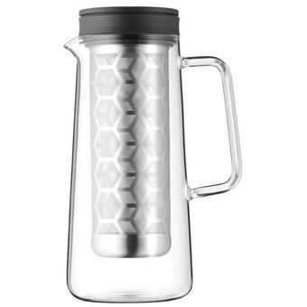 Teekannenset - Transparent/Schwarz, Design, Glas/Kunststoff (34/14/14cm) - WMF