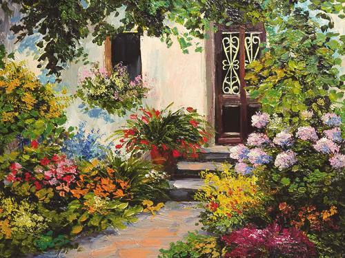 Blumen KEILRAHMENBILD - Multicolor, Basics, Holz/Textil (60/80/3,5cm) - Eurographics