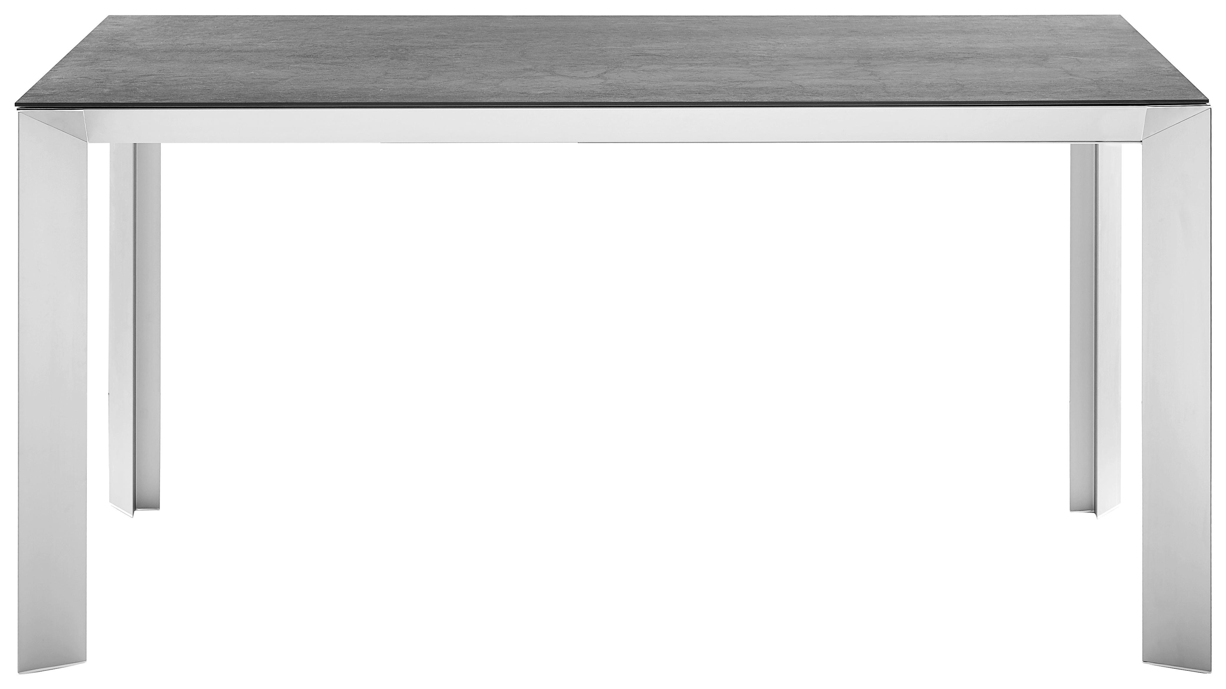 ESSTISCH rechteckig Anthrazit, Champagner - Champagner/Anthrazit, Design, Metall (160(220)/90/76cm) - NOVEL