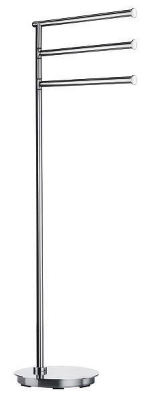HANDTUCHSTÄNDER - Edelstahlfarben, Basics, Metall (17,5/78cm)