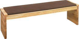 SITZBANK Mikrofaser Asteiche massiv Braun, Eichefarben  - Eichefarben/Braun, Natur, Holz/Textil (170cm) - Linea Natura