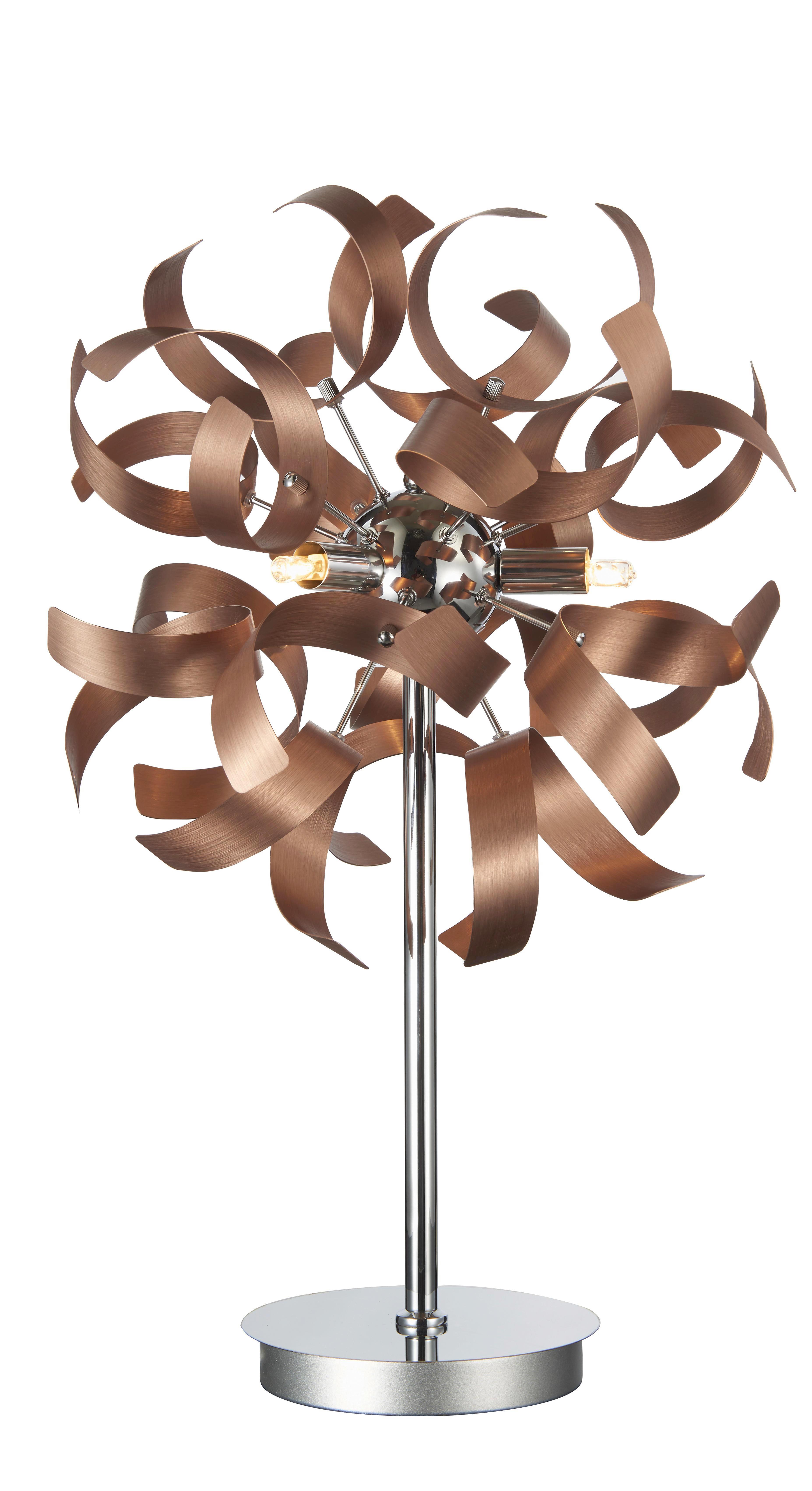 LED STOLNÍ LAMPA - měděné barvy, Lifestyle, kov (30/52cm) - AMBIENTE