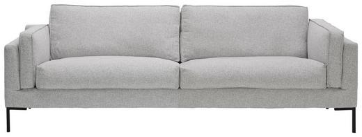 SOFA in Textil Grau - Schwarz/Grau, Design, Textil/Metall (249/86/96cm) - Lomoco