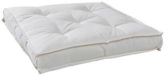 SITZKISSEN Weiß - Weiß, KONVENTIONELL, Textil (40/40/5cm) - Boxxx