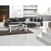SEDEŽNA GARNITURA  siva tekstil - siva/krom, Design, tekstil (331/180cm) - Voleo